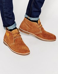 Superdry Blizzard Sherling Look Desert Boots Brown