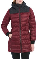 Lole Women's 'Faith' Quilted Jacket Red Sea Heather