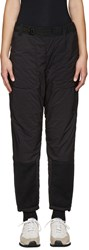 And Wander Black Twill Fleece Lounge Pants
