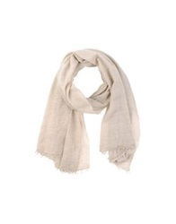Massimo Alba Oblong Scarves Light Grey