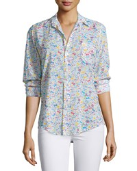 Frank And Eileen Barry Long Sleeve Voile Shirt Floral Women's
