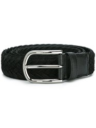 Tod's Braided Belt Black