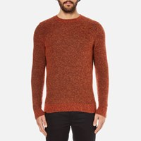 Folk Men's Textured Knitted Jumper Rust