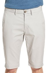 Men's Ben Sherman Slim Fit Stretch Cuffed Shorts Light Ash