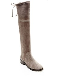Blondo Snow Knee High Suede Boots Taupe