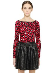 Blugirl Leopard Printed Viscose Sweater