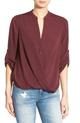 Lush Women's Twist Front Woven Shirt Fig