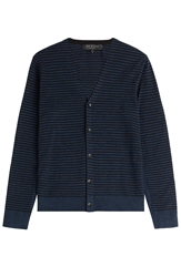 Rag And Bone Cotton Linen Striped Cardigan