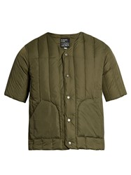 Mt. Rainier Design Mr61314 Short Sleeved Quilted Down Jacket Green
