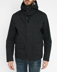 C.P. Company Black Removable Hood Parka With Multiple Pockets