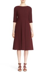 Lafayette 148 New York Women's 'Mariam' Elbow Sleeve Wool Fit And Flare Dress