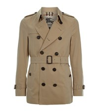 Burberry London The Sandringham Short Heritage Trench Coat Male Beige