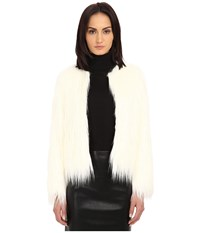 The Kooples Fancy Faux Fur Jacket Ecru