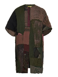 By Walid Opera Vintage Patchwork Chinese Silk Coat