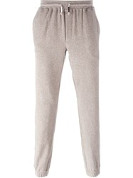 Eleventy Elasticated Waist And Hem Track Pants Nude And Neutrals