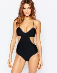 South Beach Mix And Match Cami Bralette Swimsuit Black