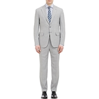 Isaia Gregory Two Button Suit Gray