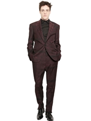 Vivienne Westwood Mosaic Jacquard Cool Wool Suit Bordeaux Black