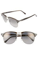 Persol Men's 56Mm Keyhole Sunglasses Grey Horn