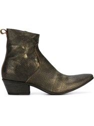 Haider Ackermann Texan Ankle Boots Metallic