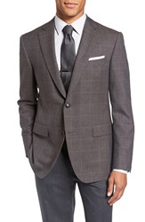 Pal Zileri Men's Classic Fit Windowpane Wool And Alpaca Sport Coat