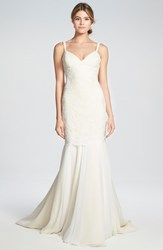 Women's Katie May Lace And Chiffon Trumpet Gown
