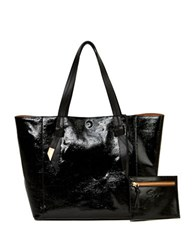 Foley Corinna Ashlyn Leather Tote And Honey Suede Pouch Set Black