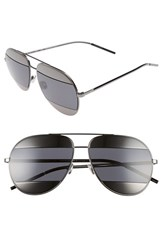 Christian Dior Women's 'Split' 59Mm Aviator Sunglasses Dark Gunmetal