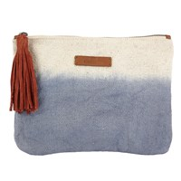 Becksondergaard O Claire Canvas Clutch Bag Blue