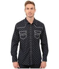 Rock And Roll Cowboy Long Sleeve Snap B2s7279 Black Men's Long Sleeve Button Up