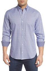 Tailorbyrd Men's Dot Grid Woven Sport Shirt