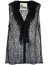 8Pm Sleeveless Lace Blouse Black
