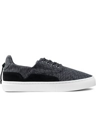 Clear Weather Black Static Twill The Eighty Low Top Sneakers