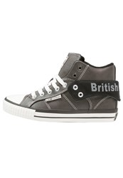 British Knights Roco Hightop Trainers Dark Grey Black