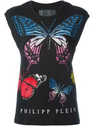 Philipp Plein 'Butterfly' T Shirt Black
