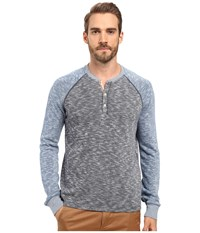 Lucky Brand Grey Label Color Block Henley Blue Multi Men's Clothing