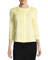 Ming Wang Front Zip Square Knit Jacket Suo