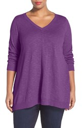 Plus Size Women's Eileen Fisher Organic Linen And Cotton V Neck Knit Tunic