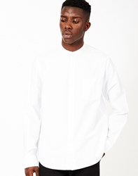 The Idle Man Mandarin Collar Shirt White