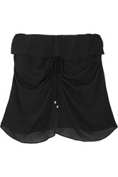 Vix Swimwear Ruffled Jersey Mini Skirt Black