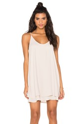 Krisa Double Layer Mini Dress Light Gray