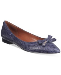 Cole Haan Alice Skimmer Bow Flats Women's Shoes Blue