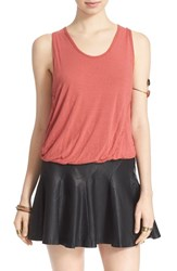 Women's Free People 'Double Bubble' Tank Washed Red
