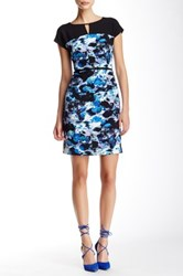 Marc New York Cap Sleeve Keyhole Dress Blue
