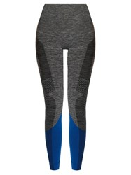 Lndr Peak Panelled Performance Leggings Grey Multi