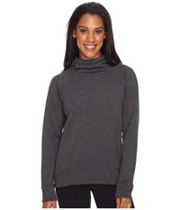 Lucy Lux Fleece Pullover Black Heather Women's Long Sleeve Pullover