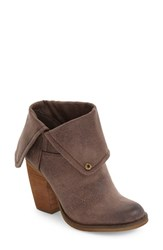 Sbicca Women's Helix Block Heel Bootie Taupe Faux Leather