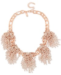 Inc International Concepts Rhinestone Statement Necklace Only At Macy's Rose Gold