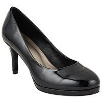 John Lewis Aly Platform Stiletto Court Shoes Black