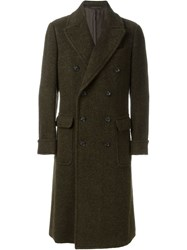 Caruso Double Breasted Coat Green